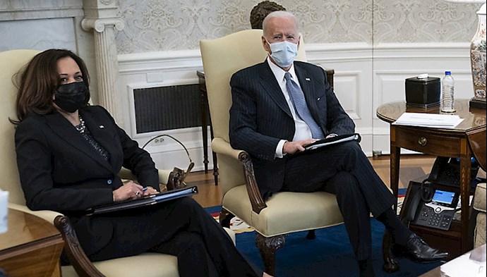 بایدن و کاملا هریس معاون رئیس جمهور آمریکا