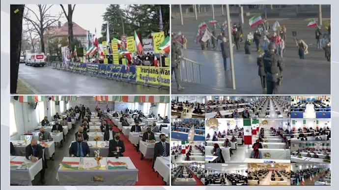 کنفرانس جهانی همزمان با اعلام حکم دادگاه آنتورپ در ارتباط زنده آنلاین با مجاهدین در اشرف۳ - 2