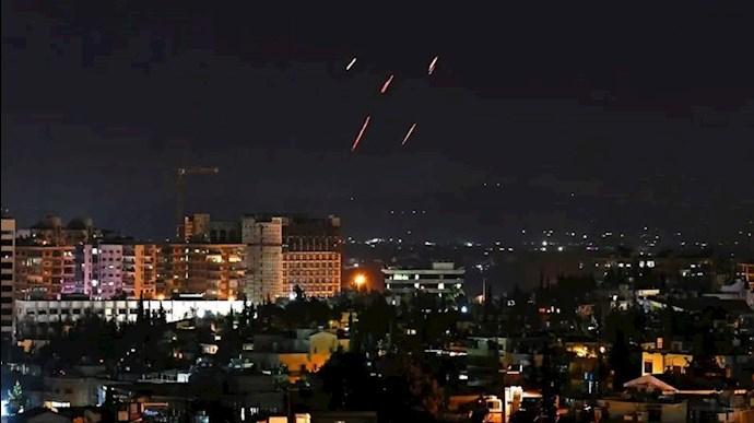 حمله هوایی به نزدیکی دمشق - عکس از آرشیو