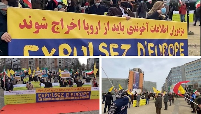 بروکسل - تظاهرات یاران شورشگر