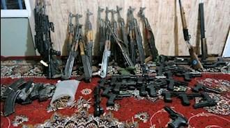 سلاحهای یافت شده نزد طالبان