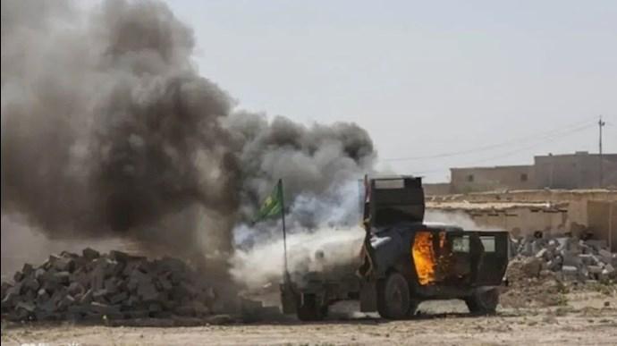 انهدام خودرو تسلیحات در سوریه