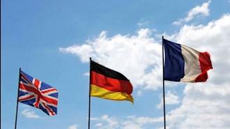 پرچم سه کشور اروپایی امضا کننده برجام