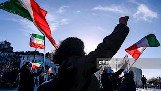 تجمع ایرانیان آزاده بعد از حکم دادگاه آنتورپ