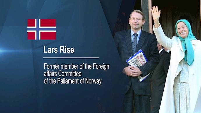 لارش ریسه رئیس کمیته دوستان ایران آزاد در نروژ