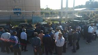 خرمشهر.تجمع اعتراضی کارکنان اداره آبفا ۲۸بهمن۹۹