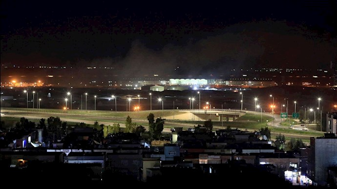 حمله موشکی به اربیل عراق