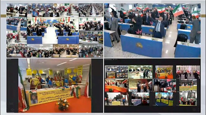 کنفرانس جهانی همزمان با اعلام حکم دادگاه آنتورپ در ارتباط زنده آنلاین با مجاهدین در اشرف۳