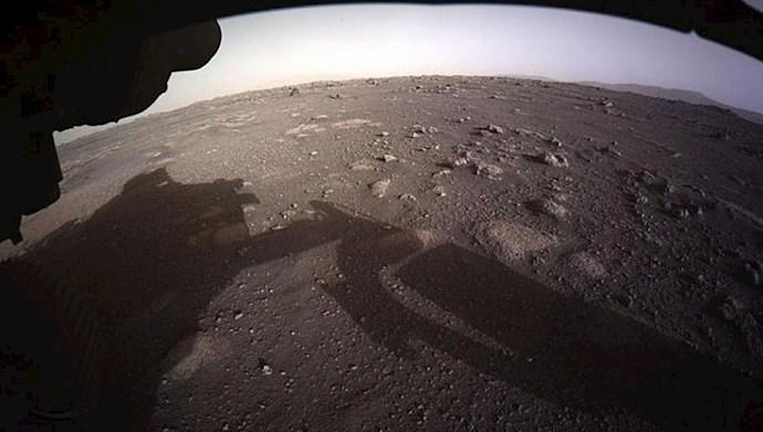 تصویر ی از  مریخ هنگام فرود مریخنورد