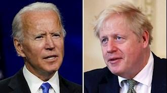نخست وزیر انگلستان بوریس جانسون و جو بایدن رئیسجمهور آمریکا