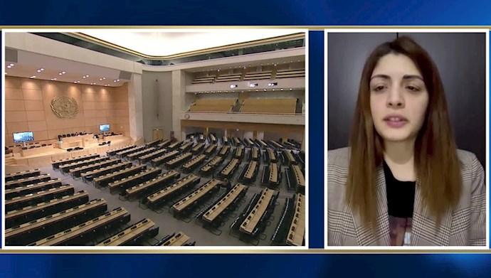 جلسه شورای حقوق بشر ملل متحد - آذر کریمی نماینده انجمن بینالمللی برای برابری زنان