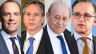 وزیر خارجه آمریکا و سه کشور اروپایی