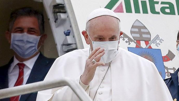 پاپ فرانسیس رهبر کاتولیکهای جهان در بغداد