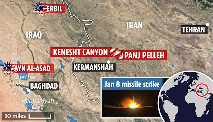 سان انگلستان: افشای دو پایگاه موشکی کاملاً مخفی رژیم ایران توسط شورای ملی مقاومت ایران