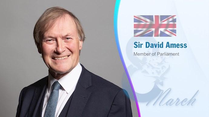 سر دیوید ایمس- نماینده پارلمان - رئیس مشترک کمیته انگلیسی برای ایران آزاد