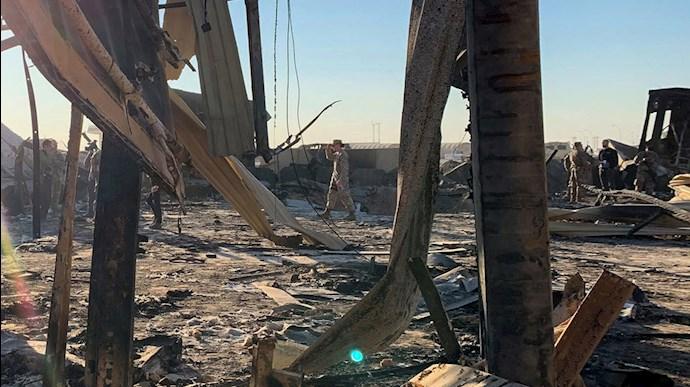 حمله موشکی به پایگاه آمریکایی در عین الاسد در الانبار عراق