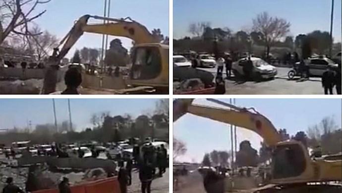 تجمع اعتراضی کشاورزان شرق اصفهان