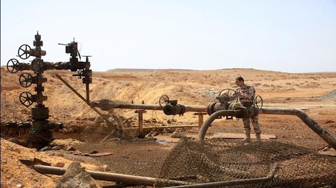 یک میدان نفتی در  سوریه