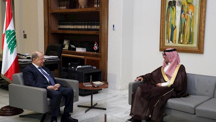 ولید بخاری نماینده عربستان در دیدار با میشل عون