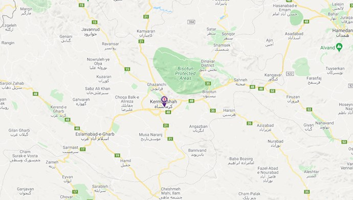 نقشه کرمانشاه