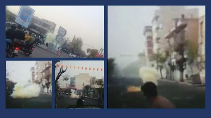 تهران - صحنههایی از انفجار نارنجک در جشن قیام آتش در میدان گمرک و جوادیه - ۲۶ اسفند ۱۳۹۹