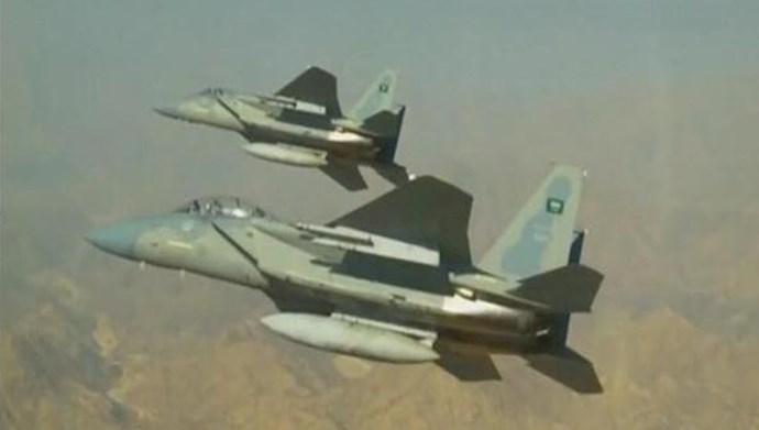 جنگنده های ائتلاف عربی