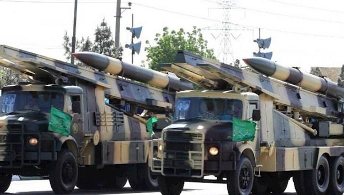 رژیم ایران تامین کننده موشک و سلاح به شبه نظامیان در سوریه