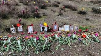 گلگذاری مزار شهیدان قتل عام ۶۷ در خاوران