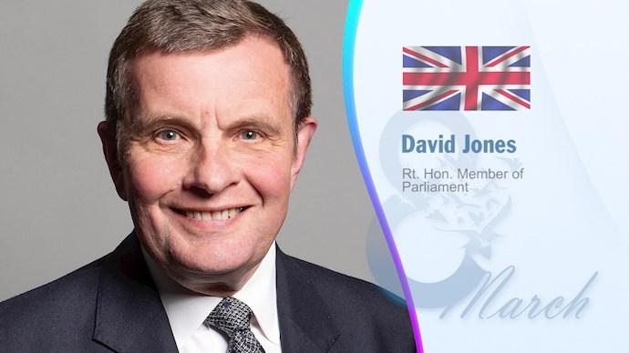 دیوید جونز نماینده پارلمان انگلستان، وزیر برگزیت (۲۰۱۷)، وزیر ولز (۲۰۱۴)، نایبرئیس گروه تحقیقات اروپا