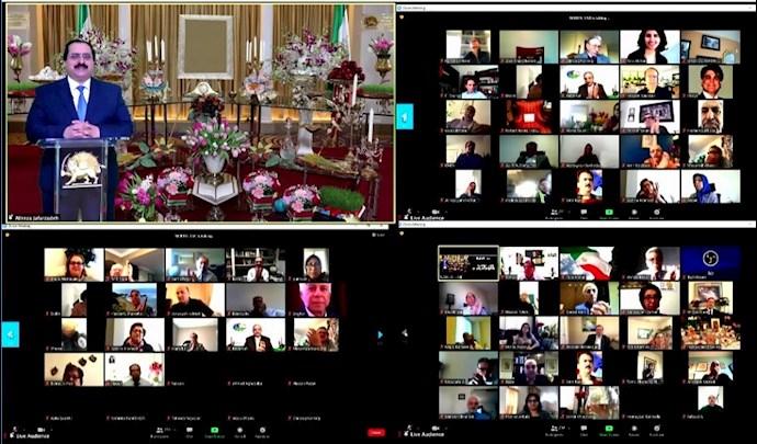 کنفرانس آنلاین در دفتر نمایندگی شورای ملی مقاومت در آمریکا