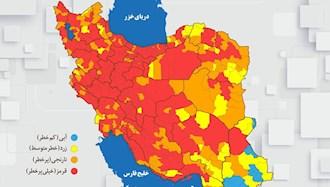 نقشه قرمز کرونایی