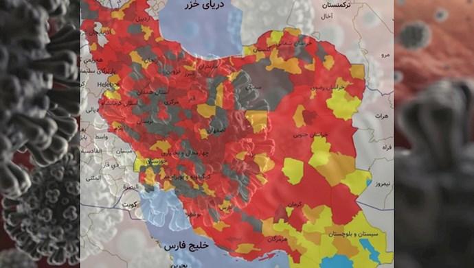 شهرهای وضعیت سیاه کرونایی در ایران