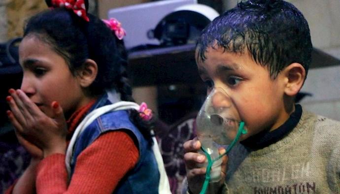 حمله شیمیایی توسط رژیم اسد به مردم سوریه