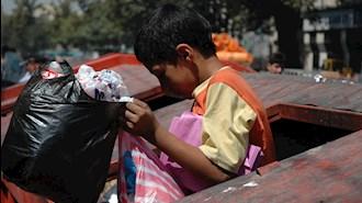 زبالهگردی کودکان ایرانی از فقر و نداری