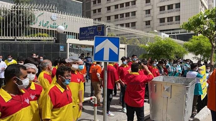 تجمع اعتراضی مرغ فروشان