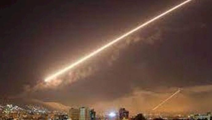 موشکباران مواضع رژیم ایران در سوریه