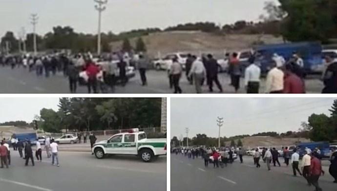 تجمع اعتراضی کشاورزان اصفهان