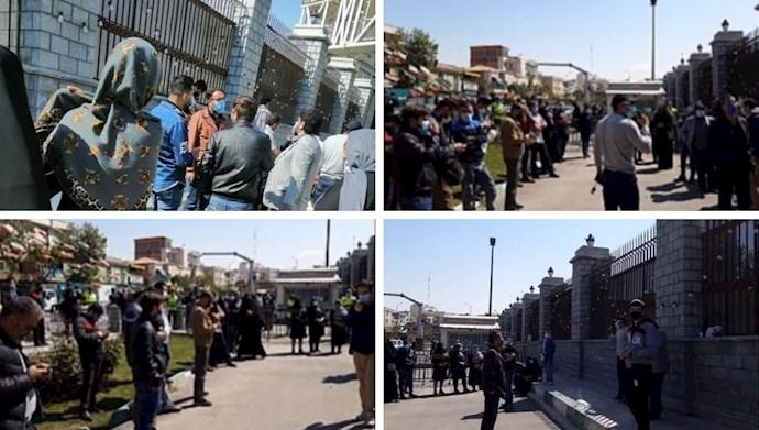تجمع اعتراضی غارتشدگان سهامدار بورس