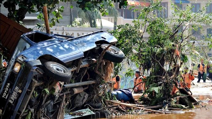 سیل در اندونزی و تیمور شرقی