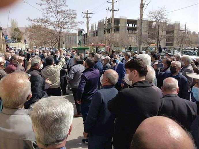 تبریز - تجمع سراسری بازنشستگان و مستمریبگیران تأمین اجتماعی