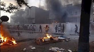 حمله به مراکز سرکوب رژیم توسط جوانان شورشی - آرشیو