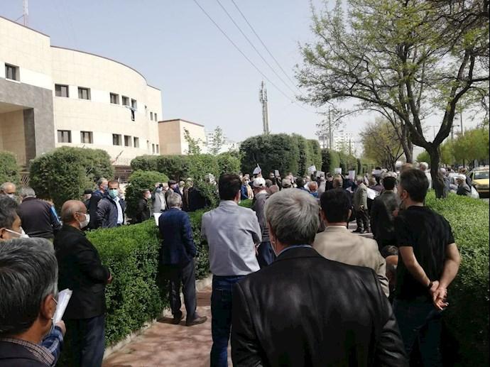 قزوین - تجمع سراسری بازنشستگان و مستمریبگیران تأمین اجتماعی