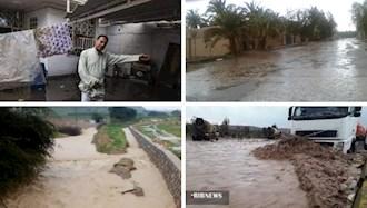سیل در شهداد کرمان