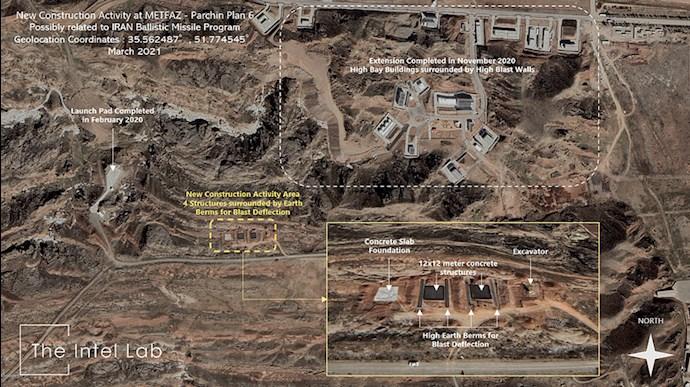 گزارش «اینتل لب» از  فعالیت ساخت و ساز  جدید در مجتمع نظامی پارچین