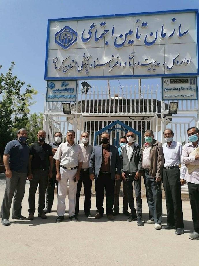 کرمان - تجمع سراسری بازنشستگان و مستمریبگیران تأمین اجتماعی