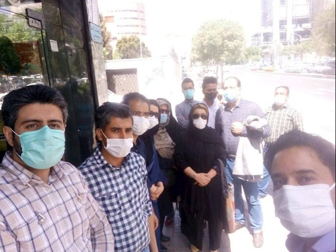 -تجمع اعتراضی غارتشدگان بورس مشهد