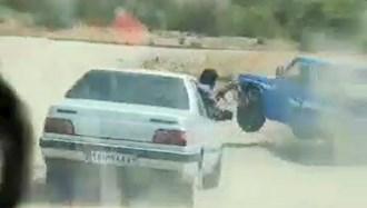 تیراندازی نیروهای سرکوبگر امنیتی به سمت یک خودروی سوخت بر
