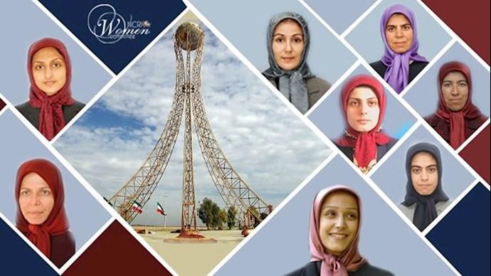 خواهران قهرمان شهید در ۱۹فروردین ۱۳۹۰ - اشرف