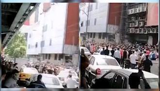 تجمع اعتراضی و درگیری حوالی پاساژ علاءالدین تهران