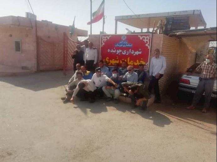-کارکنان شهرداری چوئبده آبادان
